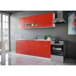 Color 2 konyhabútor 200 cm, Piros