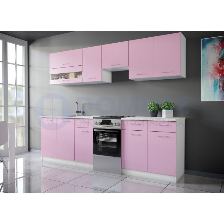 Color 4 konyhabútor 250 cm, Rózsaszín
