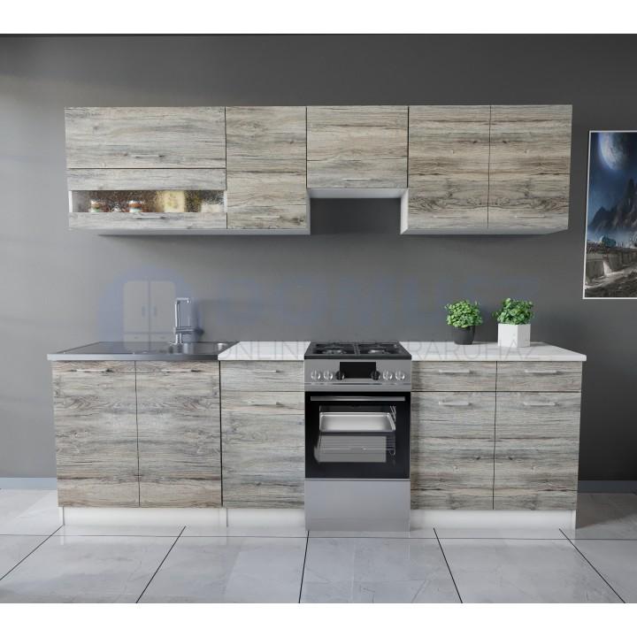 Tisza konyhabútor 250 cm Palatölgy