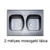 2 MÉLYES TELETETŐS MOSOGATÓ TÁLCA +16000 Ft