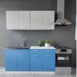 Max konyhabútor 160 cm Szürke - Kék