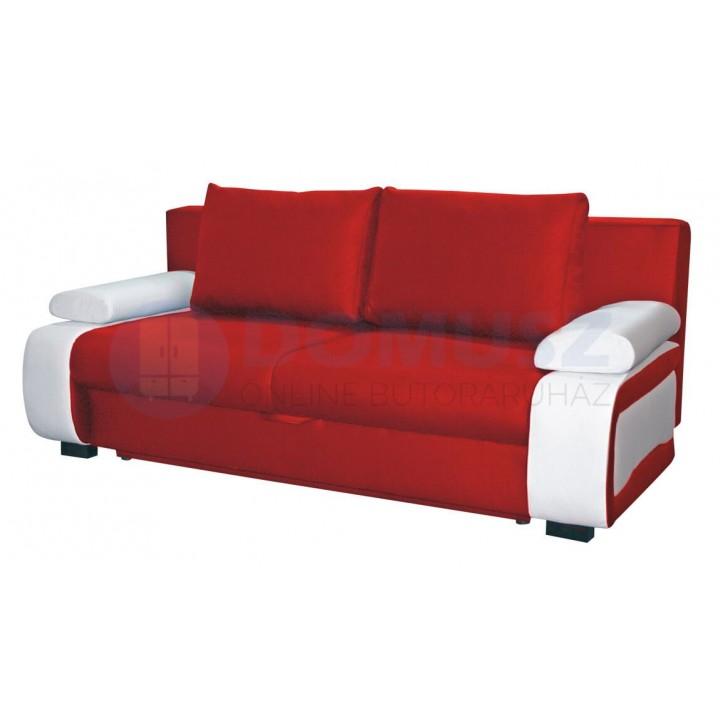 Ines textilbőr kanapé B, Piros-Fehér