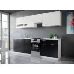 Max konyhabútor 250 cm Fehér - Fekete